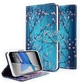 leather design inch blossom wallet plum case smartphone... (Photo: carlophils on Flickr)