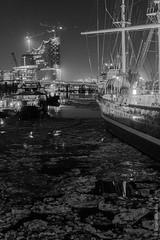 Hamburg - winterlicher Blick auf die Elbphilharmonie
