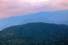 Over The Top (michaelnugent) Tags: blue trees portrait sky mountain canada mountains west green water canon lens landscape eos scenery bc pacific northwest outdoor mark hill north columbia explore ii burnaby l 5d british 24 mountainside mm 105 viewpoint pnw ef