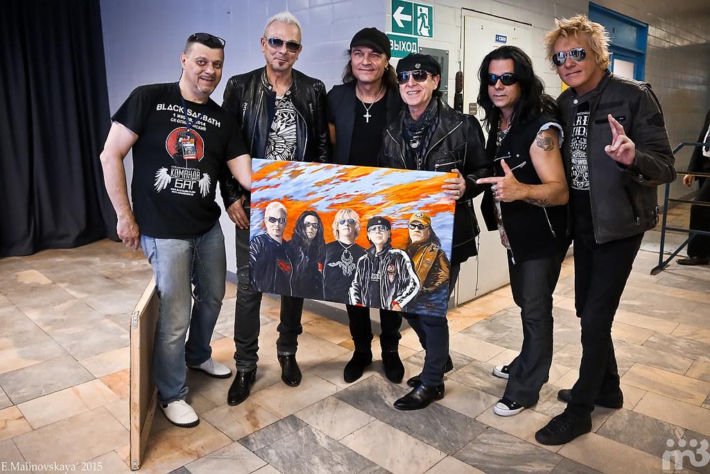Подарок Команды БАГ для Scorpions - картина