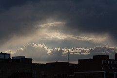 Incoming storm 23 May 2016 (Sculptor Lil) Tags: sky weather handheld crepuscularrays atmosphericoptics incomingstorm canon700d dslrsingleexposure
