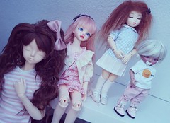 This is my girl crew.  (Reikoka) Tags: sleeping baby woods doll cue rico sd tiny bjd resin peaks luts soom cory fairyland rara msd serin yosd peakswoods littlefee popodoll