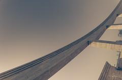 (orwa_farran) Tags: city nyc blue shadow sky blackandwhite white art colors field lines architecture stairs studio landscape la artist outdoor geometry stadium horizon line diagonal depth doha qatar katara