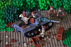 Loading up the Hellcat (~J2J~) Tags: tank lego m18 military destroyer american ww2 ammo crate hellcat minifigure brickarms citizenbrick minifigsrus
