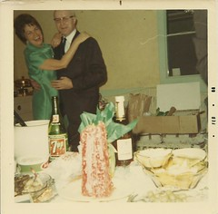 New Year's Eve, 1967 (STUDIOZ7) Tags: christmas party holiday photo bottle 60s couple dancing snapshot suburbia whiskey newyear liquor booze 1960s sixties 7up sevenup