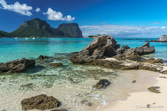 Lord Howe Island (NettyA) Tags: blue mountains water clouds sand rocks australia clear nsw day8 unescoworldheritage lordhoweisland thelagoon 2016 lhi mtgower mtlidgbird janetteasche lordhoweforclimate