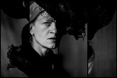 Susanne II (MarcusEnglerFotografie...) Tags: portrait blackandwhite woman face contrast sadness mirror eyes mourning emotion famous melancholie