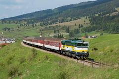 "754.055 ""Rentka"" REX 785 Hnilec (Rudynko illo) Tags: train zug slovensko slovakia rex 785 vlak 055 754 4055 renatka telgart brejlovec okuliarnik hnilec t4784055"
