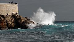 Nice - Rauba Capeu (kevrinus) Tags: mer landscape nice eau paysage vague extrieur capeu rauba