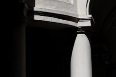 Pi greco (S. Hemiolia) Tags: light white black rome roma contrast shadows ombre column cloister luce chiostro colonne scarloallequattrofontane contrasto