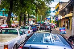 Gridlock. Traffic in Quetzaltenango.