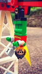 Holy Handcuffs Batman! (Starlight, Starbright) Tags: robin toys lego harleyquinn boywonder dcsuperheroes samebattimesamebatchannel legominifigures legodcsuperheroes jokerland harleyswheelsoffire holyhandcuffsbatman