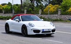 991 (jansolanellas) Tags: red white black leather sport top interior 911 convertible porsche rims cabrio carreras carrera porsche911 cabriolet 991 blackrims 911carreras porsche991