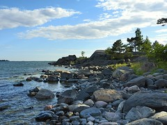 Time to relax (KaarinaT) Tags: sea summer seascape finland point helsinki peaceful balticsea baltic cape serene seashore gulfoffinland headland vuosaari greatlight uutela
