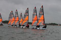 Fleet (JamesOakley123) Tags: blue orange water sport sailing pro rs tera