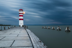 Lighthouse at Podersdorf (Sebo23) Tags: lighthouse leuchtturm podersdorf neusiedlersee longtimeexposure langzeitbelichtung storm sturm canon6d canon24704l