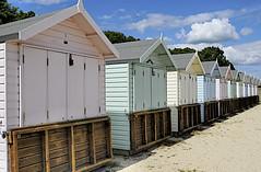BEACH HUTS (conespider) Tags: uk england outside nikon colours outdoor hampshire gb beachhuts mudeford 2016