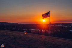 Montana Sunset (Rob Moses) Tags: sunset sun landscape greatfalls montana mt usa river beautiful beauty pretty amazing hill park town smalltown sky america americanflag usflag flag clouds canon 6d 50mm