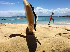 A Day At The Beach (Kelly Celeste) Tags: ocean life love beautiful childhood island happy hawaii seaside moments day waikiki joy memories happiness scuba perfectday