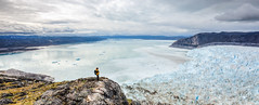 Greenland Will Make You Feel Small (bredsig) Tags: travel snow ice water landscape hiking small hike glacier arctic tiny greenland huge polar moraine calving gl ilulissat eqi eqiglacier