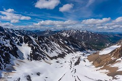 Tordrillos Wide Angle (Glatz Nature Photography) Tags: alaska nature nikond810 matanuskasusitna alaskarange tordrillomountains scenic landscape mountains clouds snow ice shotfromahelicopter matsuvalley