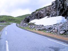 Snow still at road site. (topzdk) Tags: norway mc motorcycle honda bmw 2016 summer austagder vestagder nature