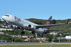 DQ-FJM heading back to the warmth of Fiji. (NZ Aviation Photography) Tags: 737 fiji nz newzealand takeoff nikon aviation plane planespotting airplane aeroplane boeing