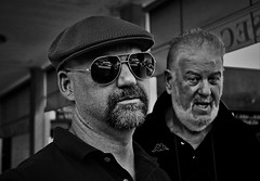 the boss and the silver (marcobertarelli) Tags: boss silver portrait dual men people contrast bw expressions live life