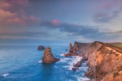 Atardecer en Costa Quebrada (Portio) (Alejandro Garca Seplveda) Tags: playa mar oceano cantbrico portio liencres atardecer olas rocas costaquebrada