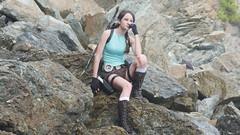 Shooting Lara Croft - Calanque du Mont Salva - Six Fours les Plages - 2016-08-11- P1500425 (styeb) Tags: shoot shooting lara croft 2016 aout 11 calanque mont salva sixfourslesplages t