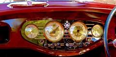 Burl, Brass and Art Deco Class (fossiled) Tags: brass burl dash walnutburldash mg mgva classiccar prewar british elegant artdeco red police car