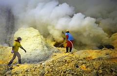 java - ijen (peo pea) Tags: cratere volcanoi vulcano ijen kewah giallo yellow hard work landscape hell paradise fog fumo sulfur miners java giava