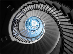 Heals spiral stairs... (kevingrieve610) Tags: spiral staircase heals london city autumn 206 blue