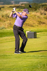 On the ball (grahamrobb888) Tags: nikond800 nikkor70300mm saintandrews theoldcourse golf golfer drive greengrass brightsun shadow