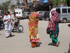 Woman walking around the center of Rawalpindi!