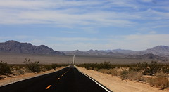 Broken Line (BCooner) Tags: sky clouds highway desert openroad distance depth coloradodesert bajada ca62
