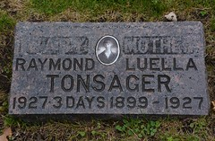 The Gravesite of Baby Raymond and his Mother Luella Tonsager (rabidscottsman) Tags: scotthendersonphotography grave gravesite cemetery stone gravemarker mn minnesota lutheranchurch nikon nikond7100 d7100 tamron tamron18270 18270 history minnesotahistory dead death rip 1920s photo photograph tonsager f80 462mm 1250th iso140 squareformat twincities socialmedia tumblr
