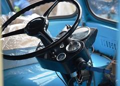 1960 Morris Commercial J (JB) Type Ice Cream Van KFL954  Instrument Panel (Stuart Axe) Tags: icecreamvan van icecream morris classicvan classic maldon essex uk england gb unitedkingdom 1960 morrriscommercial jtype jbtype jb morrisjtype kfl954 ip instrumentpanel fascia dash dashboard clock clocks