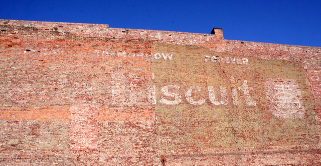 Faded Uneeda Biscuit mural - downtown Nashville