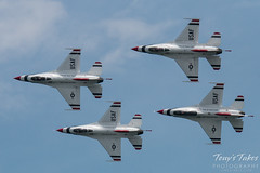U.S. Air Force Thunderbirds four ship flyby