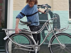 Crazy stainless art bike at WorkCycles2 (henry in a'dam) Tags: art amsterdam bike bicycle artist steel kunst metalwork custom stainless fiets rvs gekke fabriceren workcycles