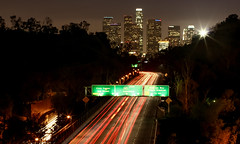 Southbound 110 (Aaron_ChinZ) Tags: la los downtown angeles 110 freeway ravine chaves