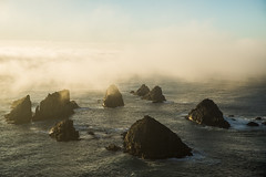 Nugget point (STEFFEN EGLY) Tags: newzealand lighthouse fog backlight sunrise coast foggy nz mystical mystic nuggetpoint