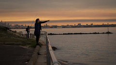 Line of sight (Mariasme) Tags: sunset people couple pointing