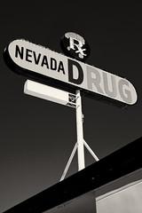 Drugstore Cowboy (Thomas Hawk) Tags: bw usa neon unitedstates nevada unitedstatesofamerica pharmacy drugstore bouldercity clarkcounty nevadadrug