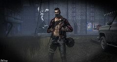 Dark Atmosphere ( c, ONLY c) Tags: man pose photography mesh body zombie horror badboy tmp roleplay cuir cerberus tmd