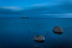 Two Lights Flashing (john&mairi) Tags: west islands coast scotland twilight lighthouses scottish arran ailsacraig pladda kildonan