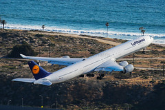 Lufthansa Airbus A340-642 D-AIHT (Mark Harris photography) Tags: california plane canon la aircraft aviation lax spotting