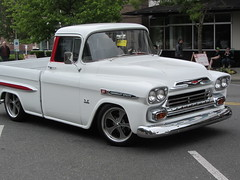 1959 Fleetside (Hugo90-) Tags: show cruise chevrolet truck washington apache pickup event chevy 31 colby everett 1959 fleetside 396 cruiseoncolby
