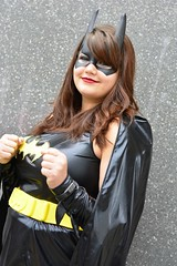 Comic Con Batgirl (kriskproductions) Tags: monkey pirates spiderman ironman worldofwarcraft superman laracroft wonderwoman loki batman joker blackwidow blade dccomics thor marvel jinx captainamerica tombraider hellboy poisonivy mystic harleyquinn avengers fairyprincess steampunk maleficent nickfury borderlands raiden akali elecktra excellondon frozon deadpool agentcarter mcmcomic kriskproductions